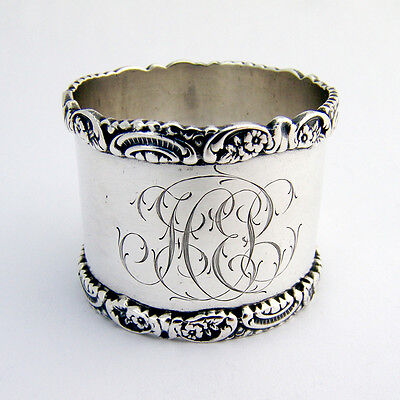 Floral Napkin Ring Wendell Sterling Silver