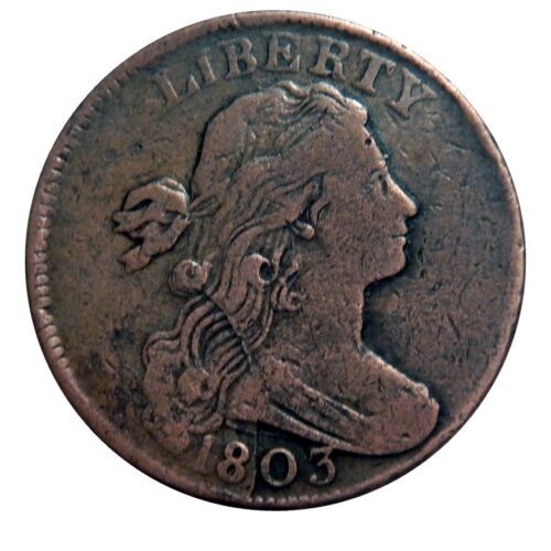 Large cent/penny 1803 die cracked obverse nice circulated