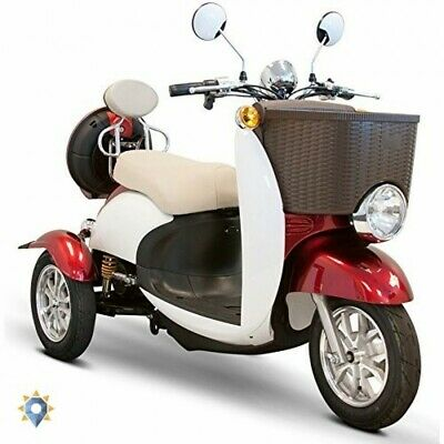 Tricycle Adult Electric Trike 3 Wheel Bike Scooter Red White 18 Mph With Storage (New - 2899.88 USD)