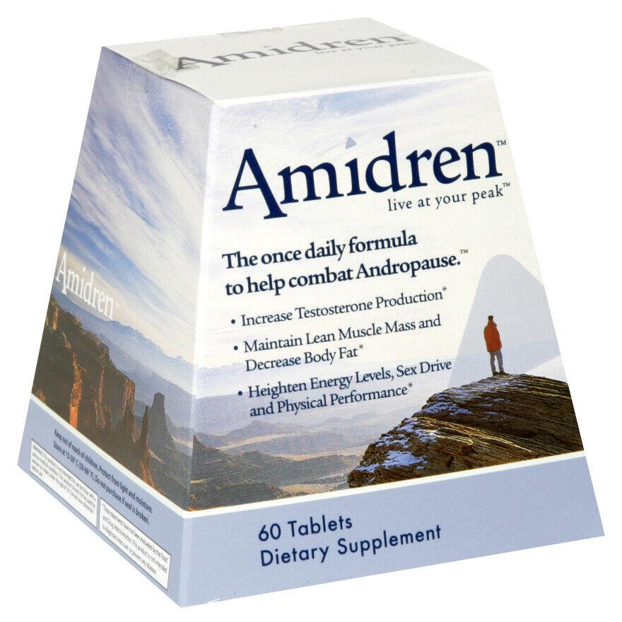 MHP Sera-Pharma AMIDREN ANDRO-T Free Test Booster Formula, 60 Tablets - 11/2022