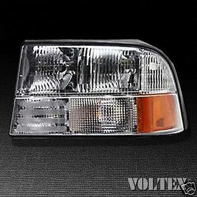 2000-2004 GMC Sonoma Oldsmobile Bravada Headlight Lamp Clear lens Halogen Left