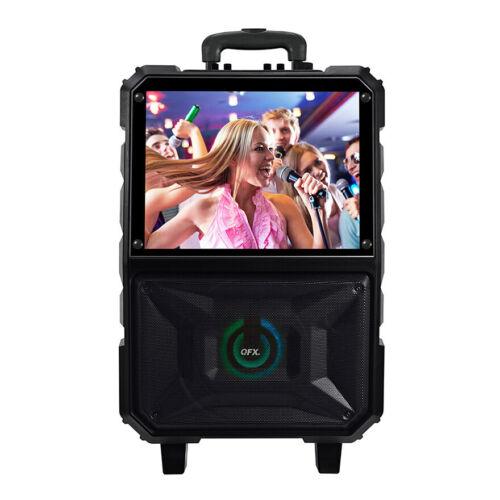 "QFX KAR-927 8"" WiFi Speaker Karaoke Machine with 15"" LED Touch Screen"