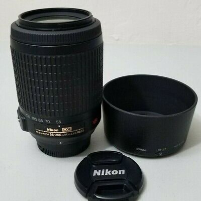 Nikon DX 55-200mm VR 1:4-5.6G ED Lens Nikkor DSLR Camera *VERY GOOD*