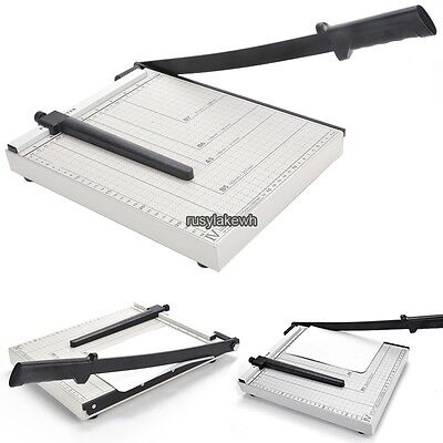 Pro A4 - B7 Size Metal Paper Cutter Card Photo Trimmer 12 Sheet White