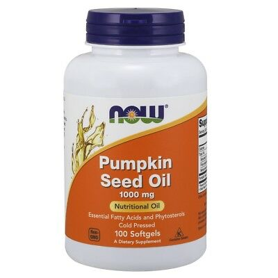 (Now Foods PUMPKIN SEED OIL l 1000mg - 100 Softgels PROSTATE HEALTH)