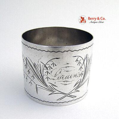 Floral Napkin Ring Sterling Silver 1900