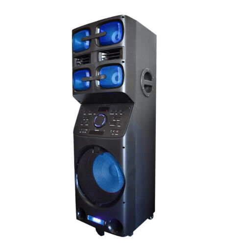 Axess PABT6027 Portable Bluetooth PA Party Speaker with LED Disco Lights