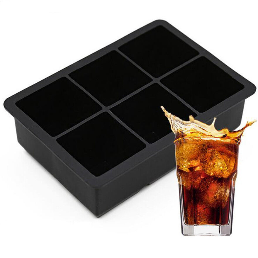 DIY Big Square Jumbo Z Cube Maker Tray Silicone Mould Mold Ice Large
