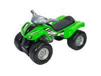 Kids Push Along Toy Kawasaki KFX 700 Ride On Quad Bike Lights & Sounds Green