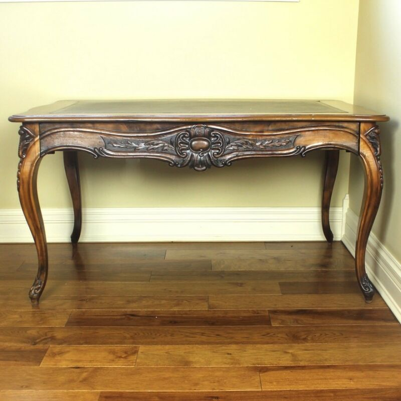 Antique Leather-Top Wiriting Desk