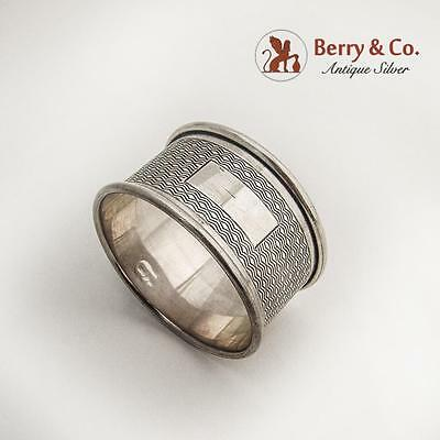 Engine Turned Napkin Ring Sterling Silver 1959
