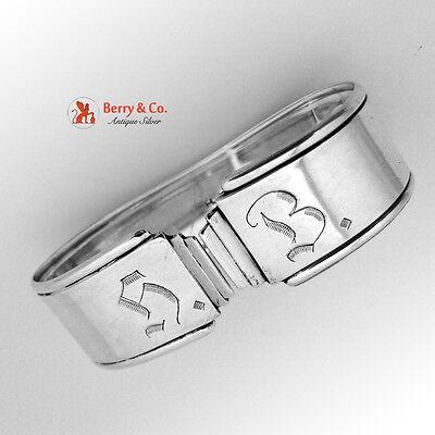 Art Deco Napkin Ring Norwegian 830 Silver 1930