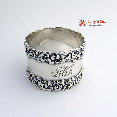 Napkin Ring Scroll Edge Sterling Silver 1899