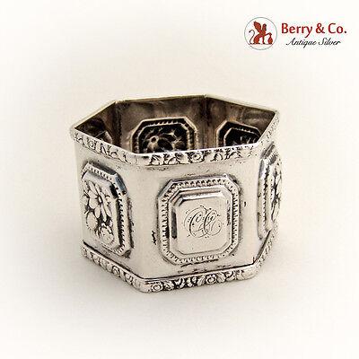 Hexagonal Napkin Ring Sterling Silver 1860