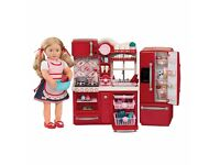 Our generation gourmet kitchen, fridge and accessories