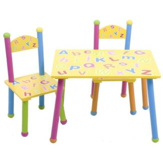ABC Table & Chair Set 3pc