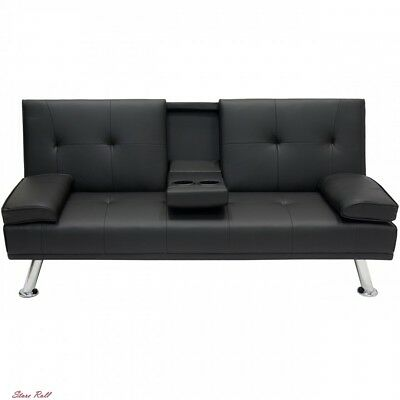 Futon Sofa Bed Leather Modern Comfort Convertible Durable Best Choice