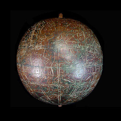 A very fine 19th Century North Indian bronze celestial globe, 19th C, x6328