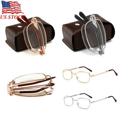 Unisex Pocket Folding Foldable Reading Glasses Unisex Eyeglass +Case (Folding Eyeglasses)