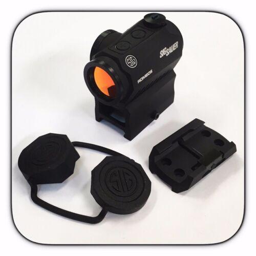 New Sig Sauer Romeo 5 Red Dot Sight 2 MOA MOTAC W/ 2 Risers Romeo5 SOR52001