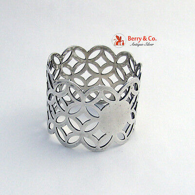 Vintage Open Work Napkin Ring Sterling Silver 1930