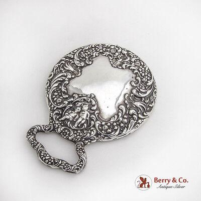 Ornate Hand Mirror Sterling Silver 1890