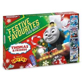 New!!! Thomas and friends FESTIVE FAVOURITES 4 DVD BOX SET STILL IN PACKAGING