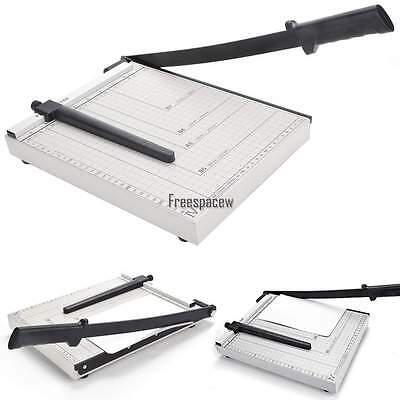 "12"" Manual Paper Cutter Trimmer Machine Heavy Duty A4 Commercial Home"