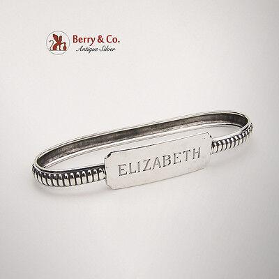 Bracelet Form Oval Napkin Ring Sterling Silver Lebkuecher Co 1900