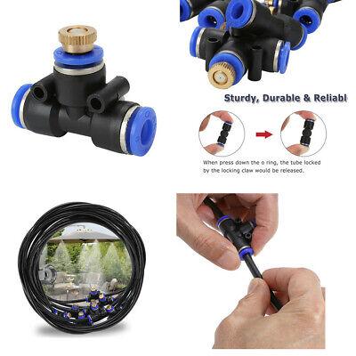 5PCS Brass Mist Nozzle Water Cooling System Kit For Fan Spray System (Fan Nozzle Kits)