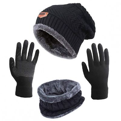Snow Hats For Women Beanie Gloves Knitted Winter Hat Scarf and Gloves Set
