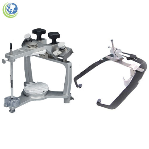 NEW DENTAL LABORATORY WHIP MIX ADJUSTABLE SCREW ARTICULATOR #2240 W/ FACE BOW