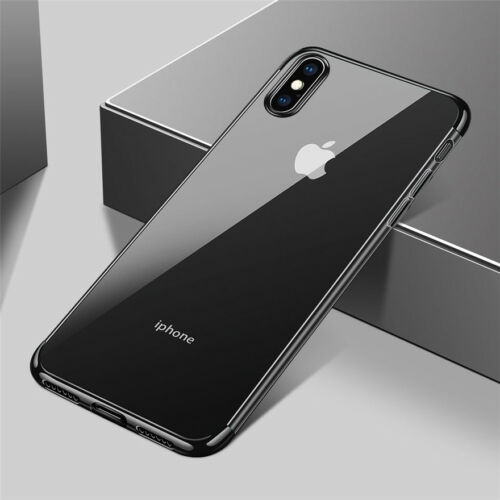 Ultra Thin Slim Plating Silicone Soft Clear Case Cover For iPhone 8 7 6s Plus X