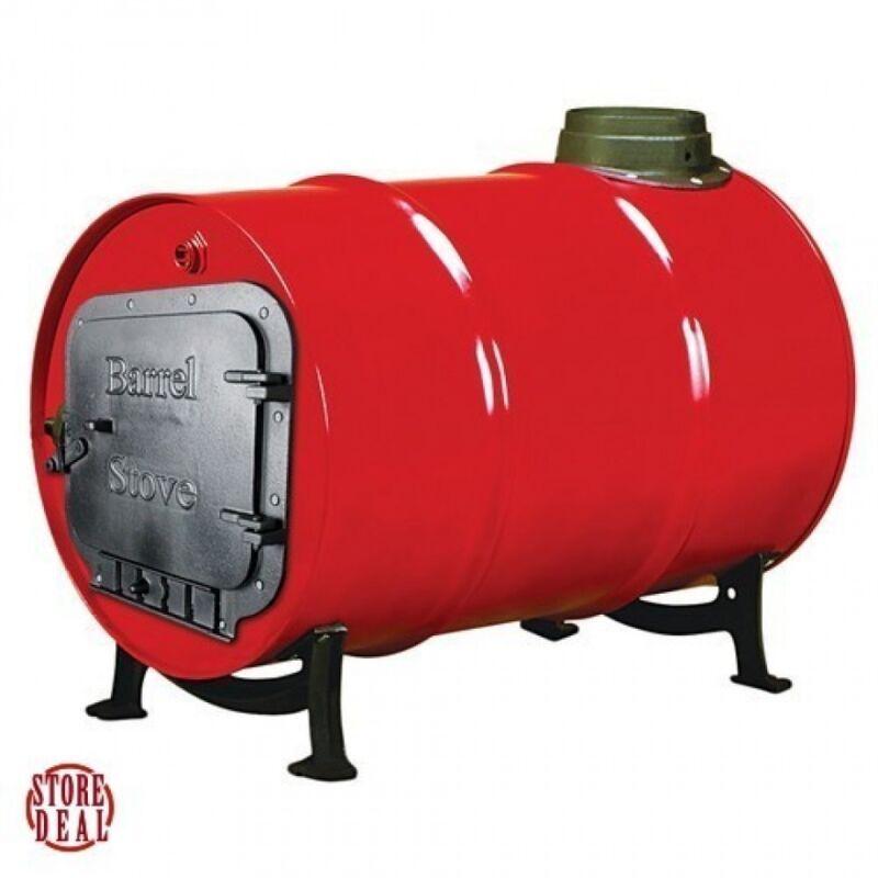 Stove Kit Barrel Wood Burning Double Drum Adapter Cabin Garage Heater US NEW