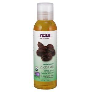NOW Foods Organic Jojoba Oil Hair Skin & Body Moisturizer 4 fl oz