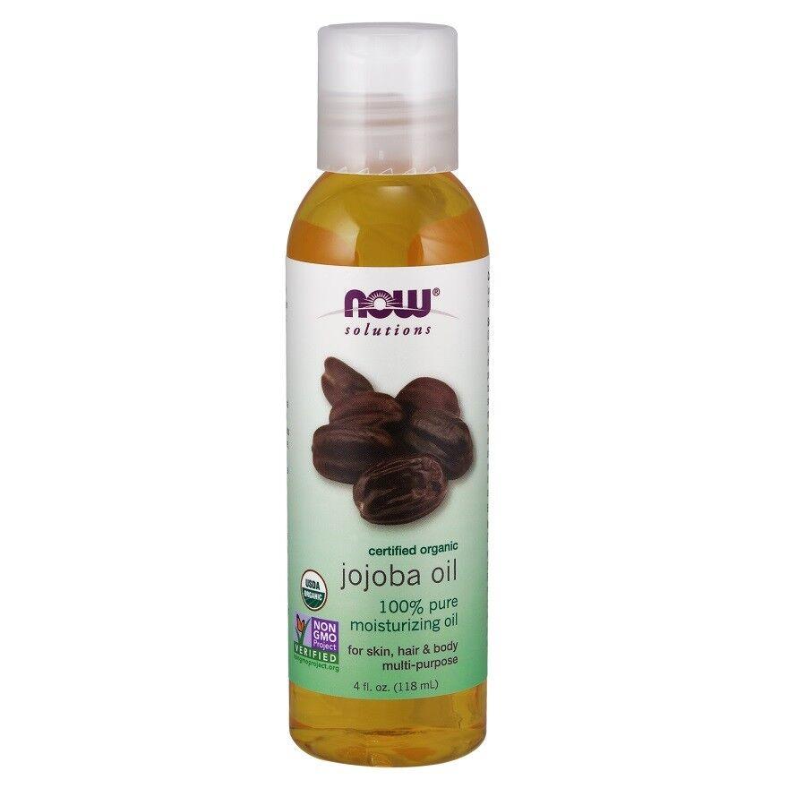 NOW Foods Organic Jojoba Oil Hair Skin & Body Moisturizer 4