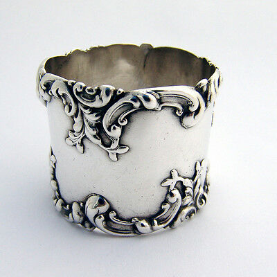 Scroll Applied Napkin Ring F. Whiting Sterling Silver
