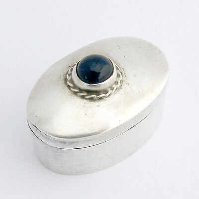 Sterling Silver Pill Box Oval Abalone Polished Shell Mexico Mexican Silver
