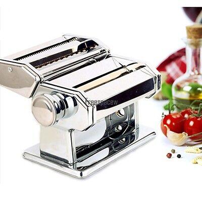 الة صنع المعكرونة جديد Pasta Maker Noodle Machine Spaghetti Clamp Fettuccine Roller Stainless 2 Cutter