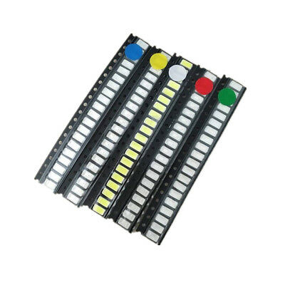 100x 5050 5730 1210 1206 0805 0603 Smd Led Diode Kit Red White Green Blue Yellow