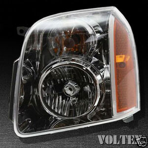 2008-2011  GMC Yukon XL1500 2500  Headlight Lamp Clear lens Halogen Driver Left