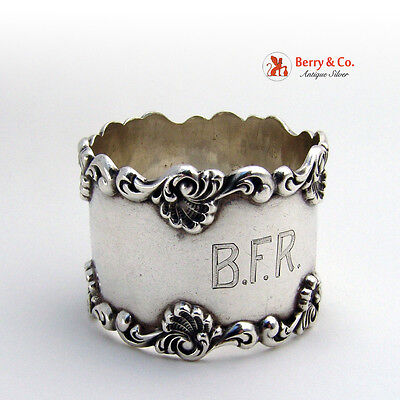 Shell Scroll Napkin Ring Towle Sterling Silver 1900 BFR