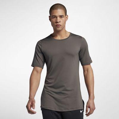 (Men's Nike Dri-Fit Utility Short-Sleeve Training Top AA1591-202 Ridgerock Brown)