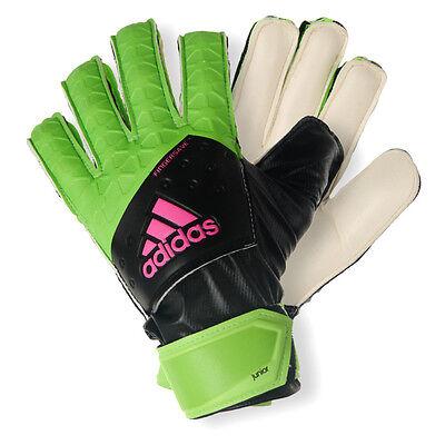 adidas ACE Fingersave Junior Torwarthandschuhe Fingerschutz Torwart grün