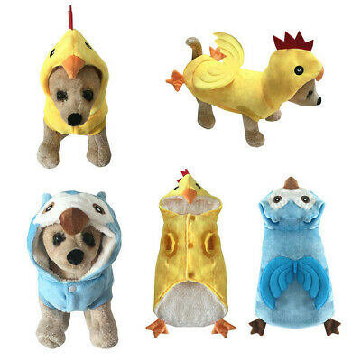 Dog Owl Costume (Cosplay Puppy Dog Funny Clothing Cotton Hoodie Chicken Owl Costume For Pet)