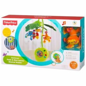 Fisher Price Rainforest Peek-a-Boo Leaves Musical Mobile, Brand New, Sealed