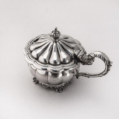 Ornate Mustard Pot Sterling Silver Birks Silversmiths