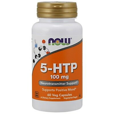 (Now Foods 5-HTP 100mg - 60 caps - Relieve Stress & Boost Mood)