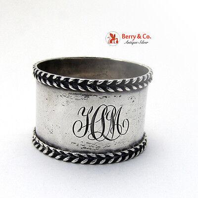 Applied Foliate Napkin Ring Fradley Sterling Silver 1900 HLM