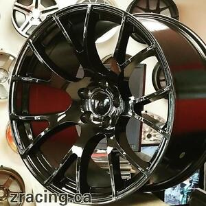 20 inch HellCat Replica Wheels GLOSS BLACK (4 New 899 + tax ) 20x9.5 front 20x11 Rear @Zracing 905 673 2828